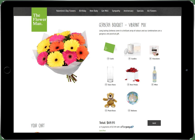 Alcinder tech The Flower Man Ipad web design development