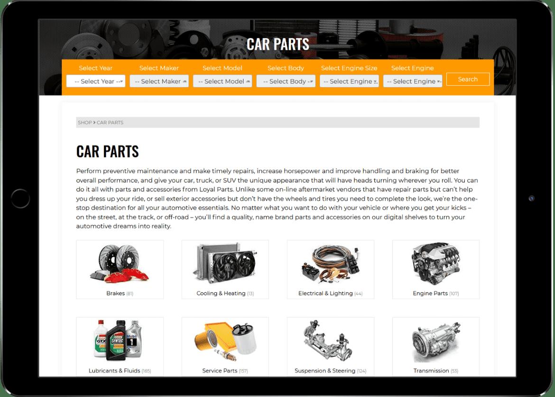 Alcinder tech loyal parts Ipad web design development