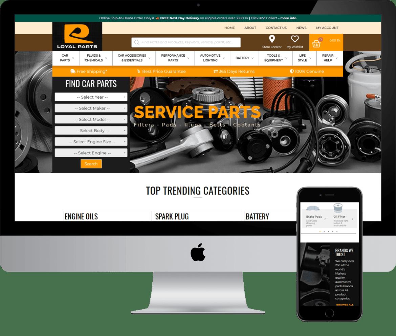 Alcinder tech loyal parts responsive web design development