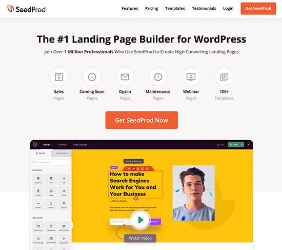 WordPress Page Builder seedprod