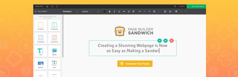 WordPress Page builder sandwich