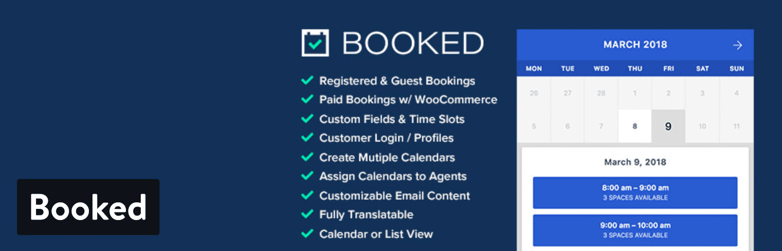 Booked  Booking Plugins for WordPress